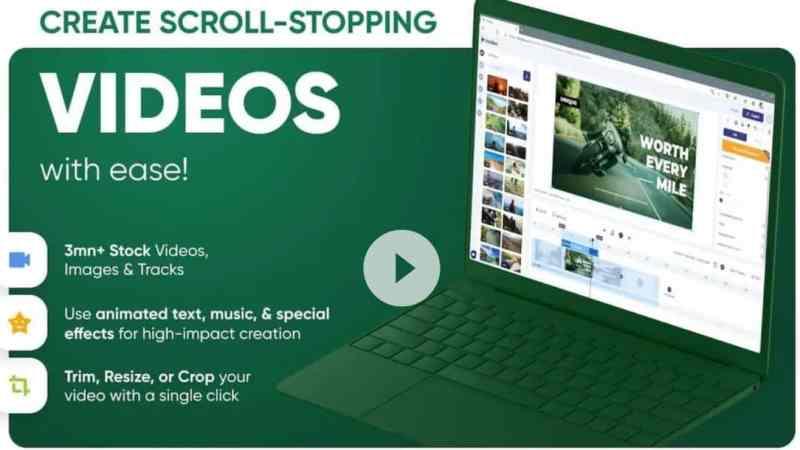 short video text editor