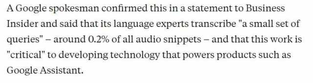 Google transcribes your audio