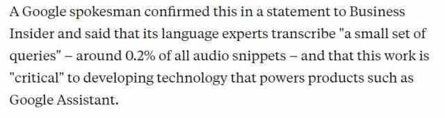 Google transcribes your audio