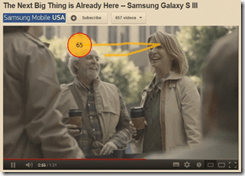 Eye Tracking of the Samsung S3 ad