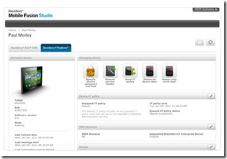 Mobile Fusion - Blackberry MDM