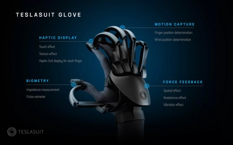 Feel Virtual Objects And Track Pulse With Tesla VR Gloves