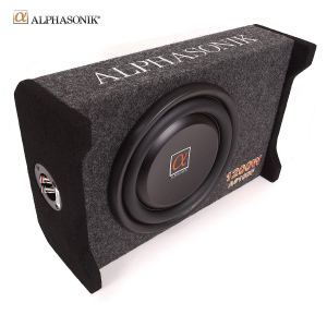 Alphasonik AS10DF 10-inch Flat Enclosed Sub woofer