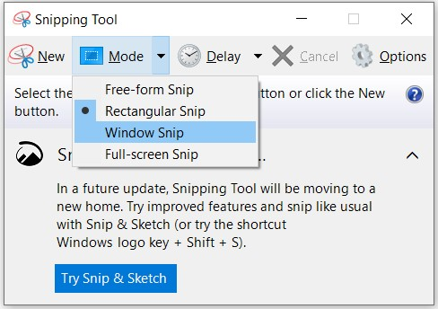 How to screenshot on Windows Method 1: Snipping Tool