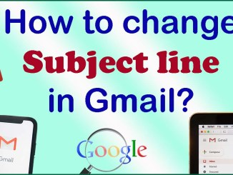 how to change the subject line in gmail