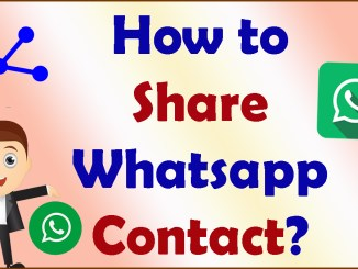 How to Share Whatsapp contacts
