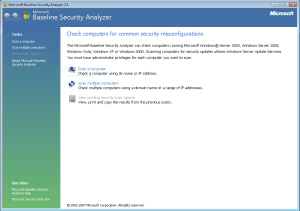 Microsoft-Baseline-Security-Analyzer