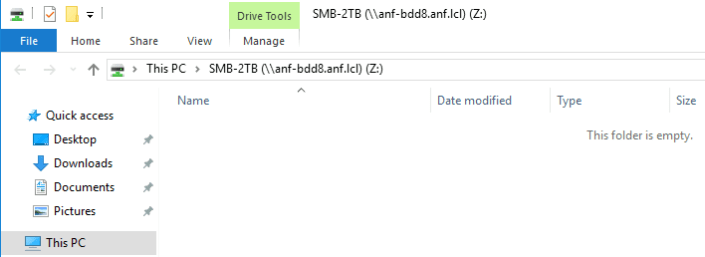 Mounted network drive in Windows