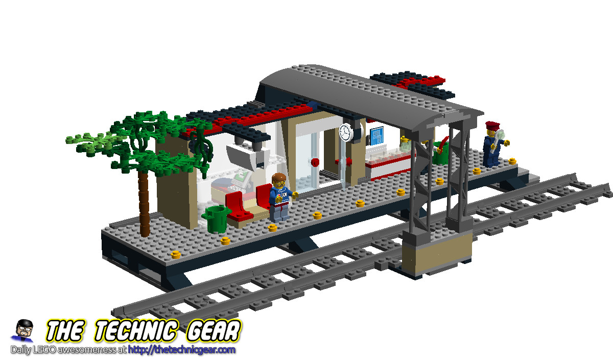 MOC LEGO City 60050 Train Station LEGO Reviews amp  Videos     MOC LEGO City 60050 Train Station LEGO Reviews amp  Videos