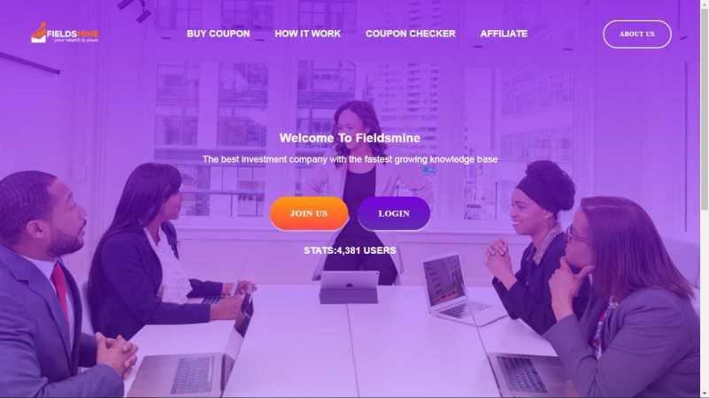 fieldsmine homepage