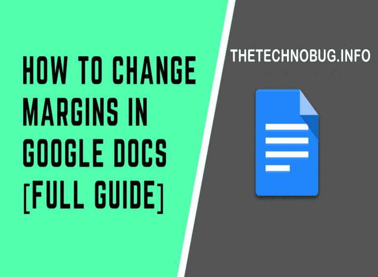 how to change margins in google docs in 2020