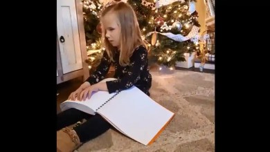 Watch: Visually impaired kid gets braille Harry Potter books. Her reaction is priceless – it s viral