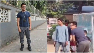 Aamir Khan plays cricket with children in Mumbai, actor Kishwer Merchantt criticises them for not wearing masks – bollywood