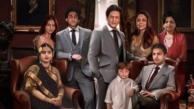Shah Rukh Khan's fanmade family portrait with Gauri, Aryan, Suhana, AbRam and his parents goes viral. See here – bollywood