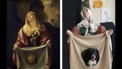 Woman recreates famous artworks with her dog. They are 'woofderful' – it s viral
