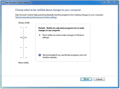 Disable User Access Control Using Group Policy