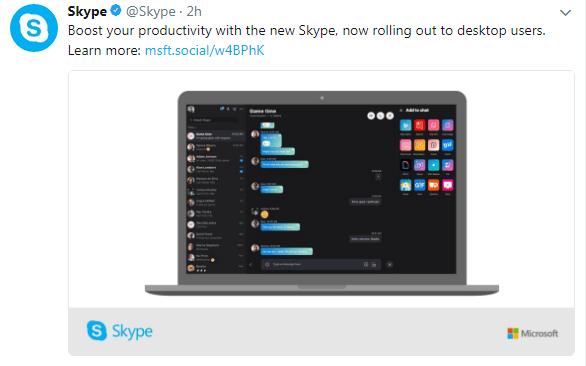 Skype New Desktop App Has Been Released