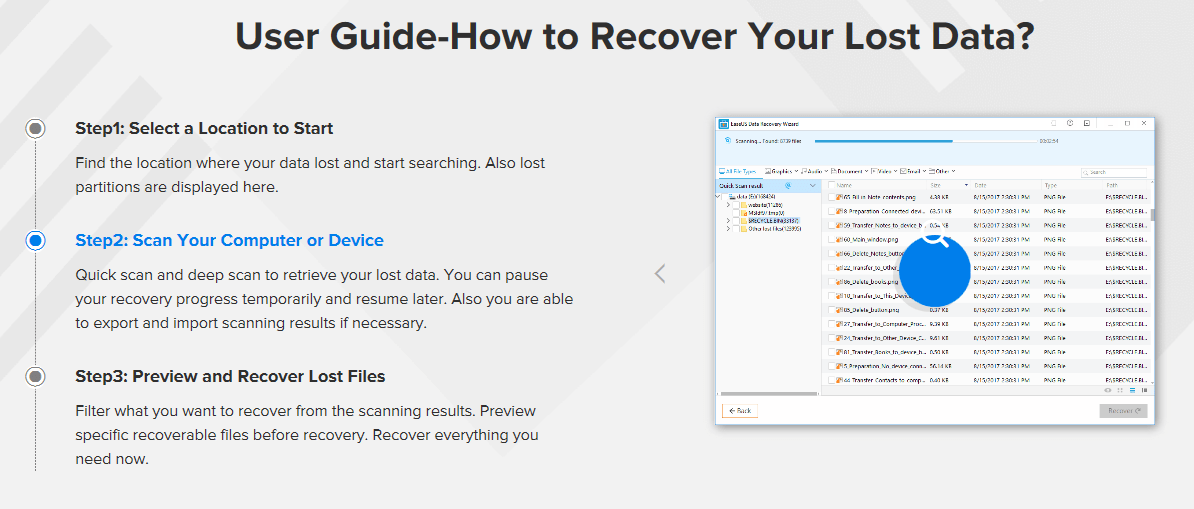 Recommended Data Recovery Software – EaseUS Data Recovery Wizard