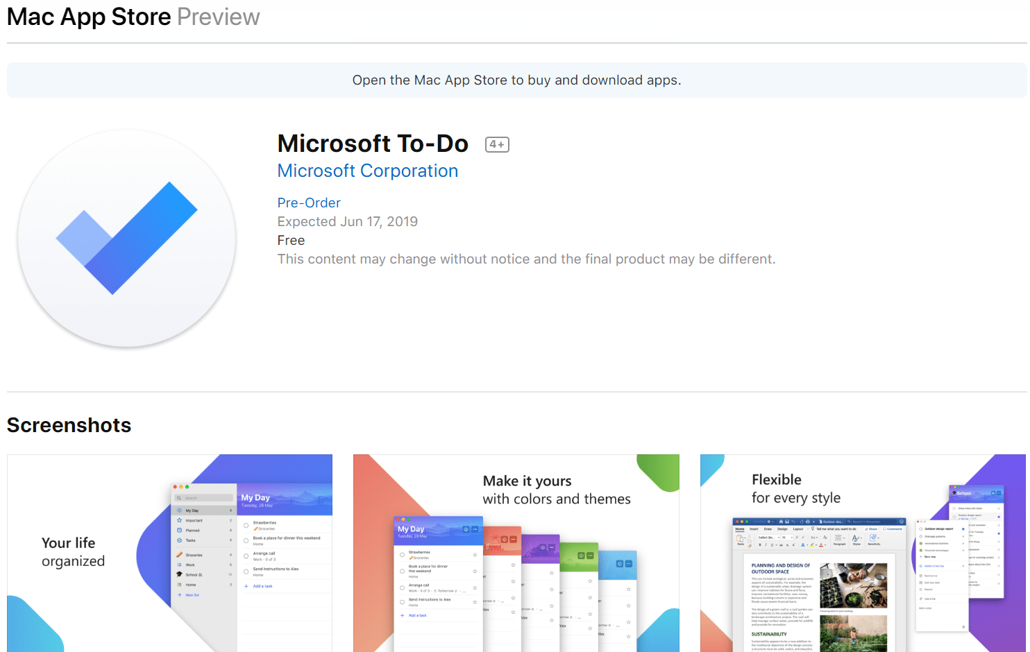 Microsoft Announces the Preorder of Microsoft To-Do for the Mac