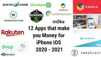 12 Apps that make you Money for iPhone iOS 2020 - 2021