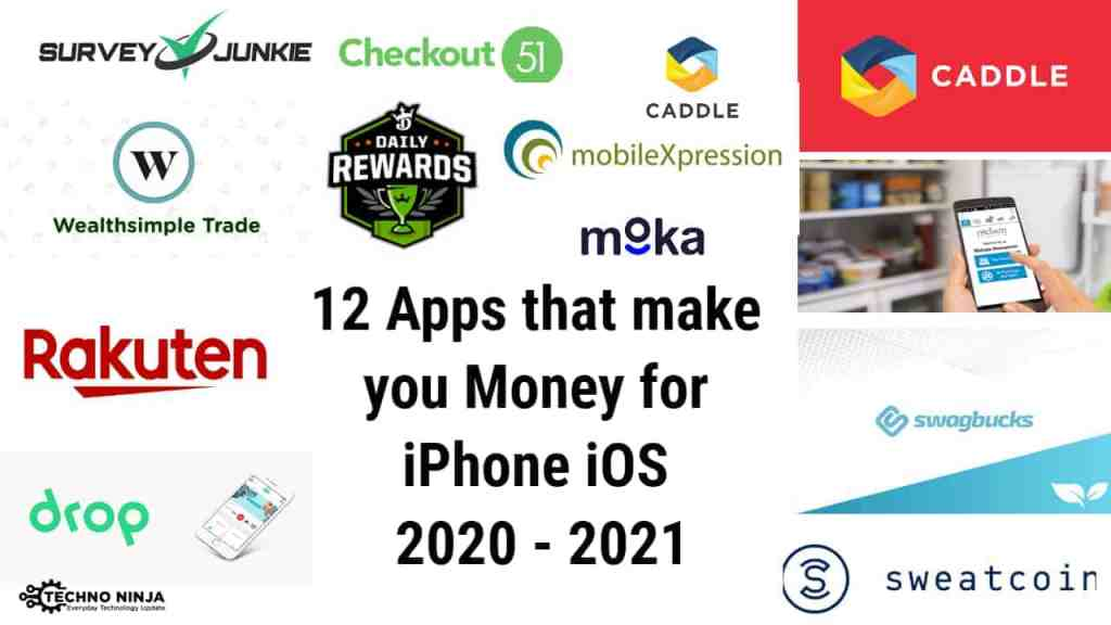 12 Apps that make you Money for iPhone iOS 2020 - 2021 -+ The Techno Ninja