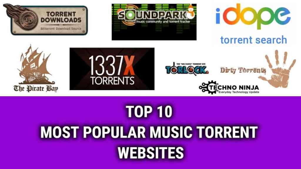 TOP 10 MOST POPULAR MUSIC TORRENT WEBSITES