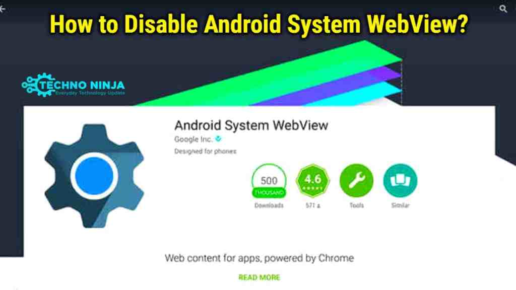 How to Disable Android System Webview?