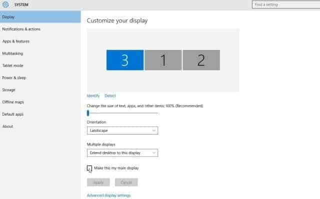 How to select multiple display viewing modes in Windows 10?