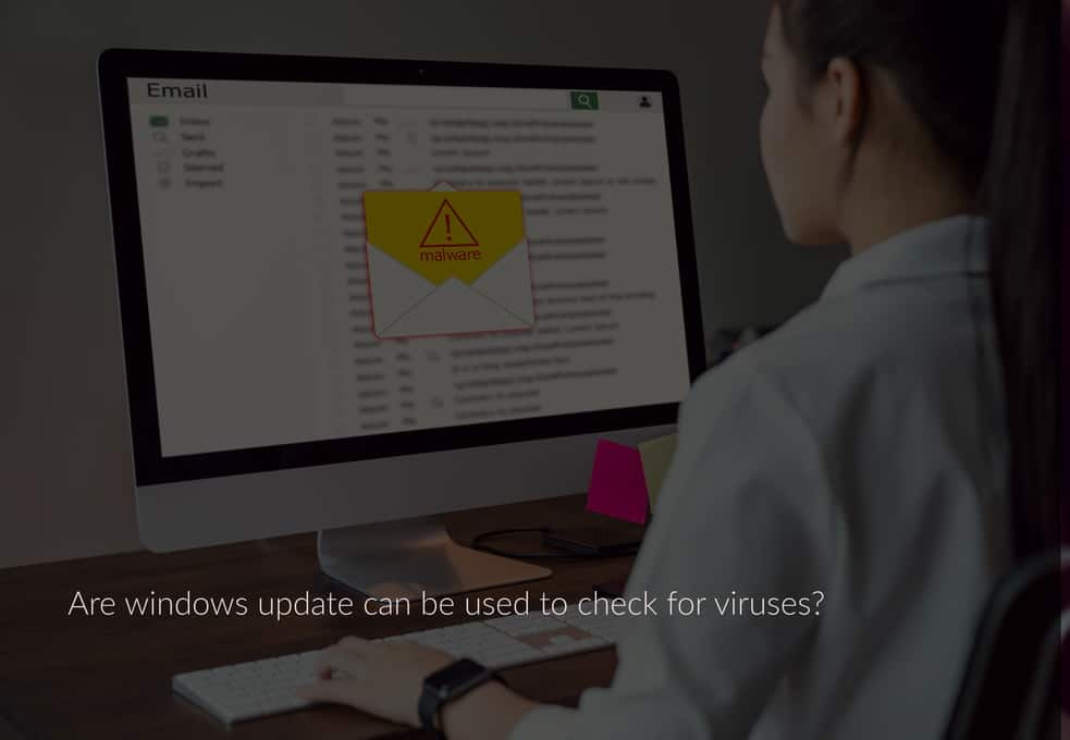 Are windows update can be used to check for viruses?