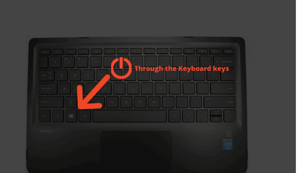Through the Keyboard keys