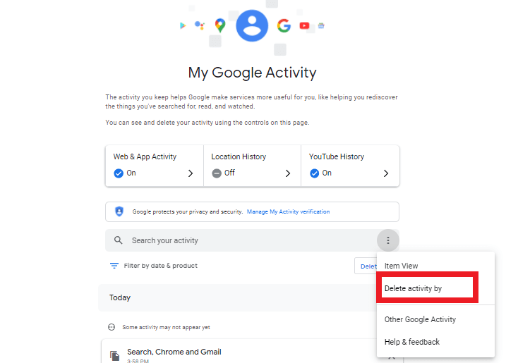 How to Delete Google Activity on a Computer step 6