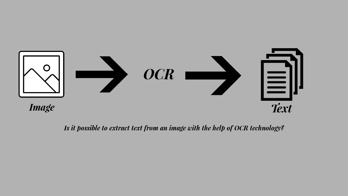 How to extract text from an image with the help of OCR technology?