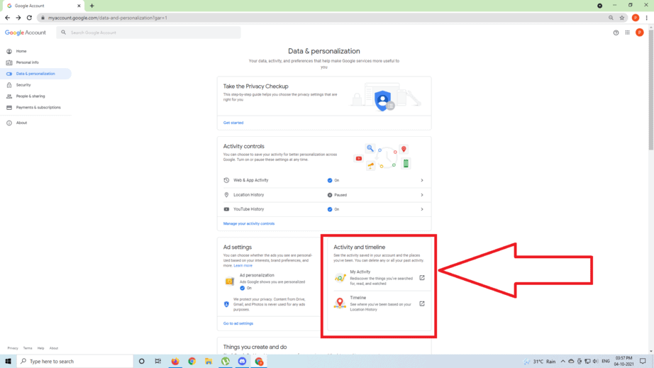 How to Delete Google Activity on a Computer step 4