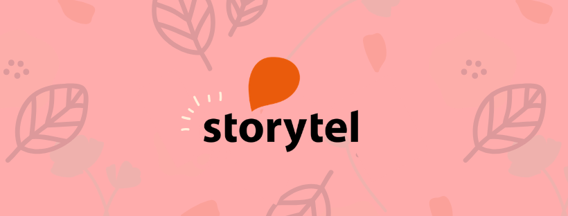 Storytel Launch Article Header with Logo