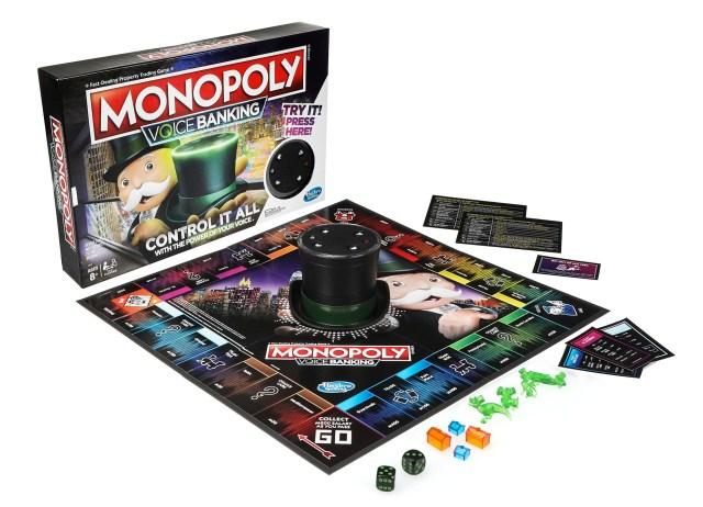 Monopoly voice banking game set