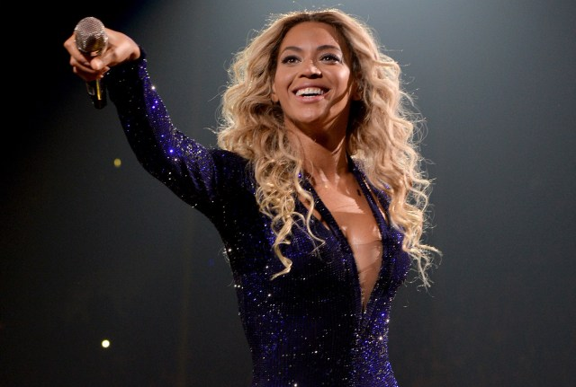 Beyonce Knowles performing at a concert