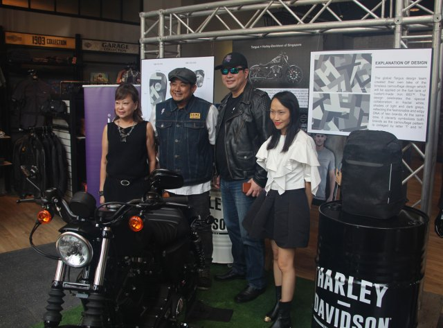L-R: Dorothy Chan (General Manager of Harley-Davidson of Singapore), Gary Eng (Brand and Marketing Officer of Harley-Davidson of Singapore), Eric Kuan (APAC Senior Commercial Director of Targus) and Edith Ka (APAC Marketing Director of Targus).