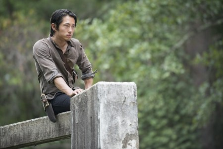 Korean-American actor Steven Yeun as Glenn Rhee in The Walking Dead via AMC