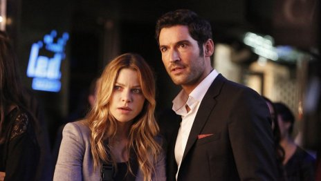 Lauren German as Detective Chloe Decker, Tom Ellis as Lucifer Morningstar Credit to Bettina Strauss/FOX (via hollywoodreporter.com)