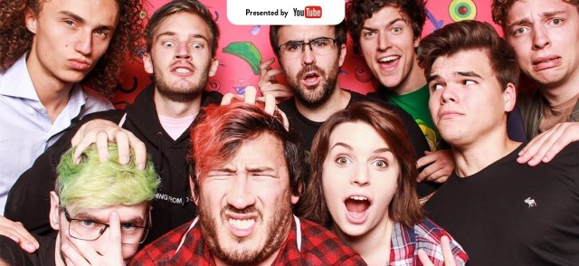 Well-known YouTube content creators taking a group photo via digiday.com