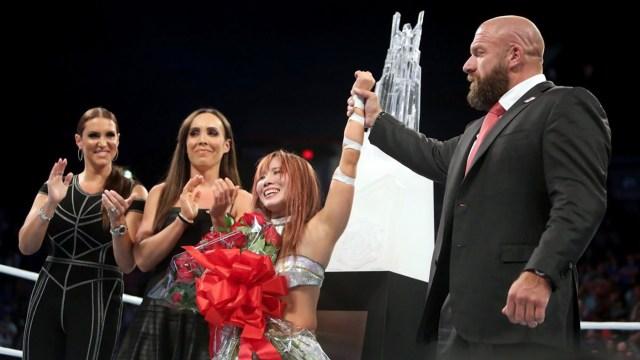 Kairi Sane won the WWE's Mae Young Classic tournament in 2017. via WWE.com