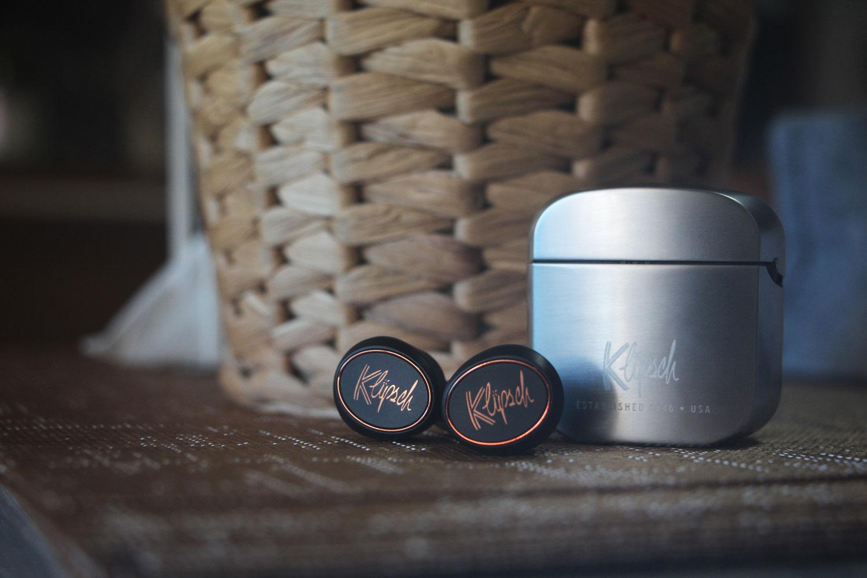 Klipsch T5 True Wireless earphones and charging case