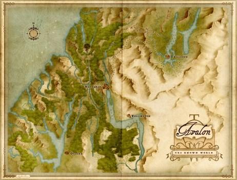 Map of Avalon Techno Wizard