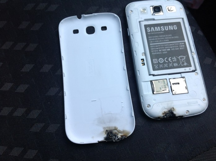 galaxy s3 exploded
