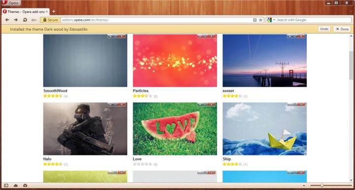 Opera 12 Themes
