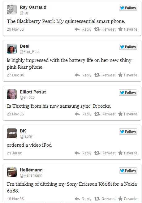 Tweets from Year one