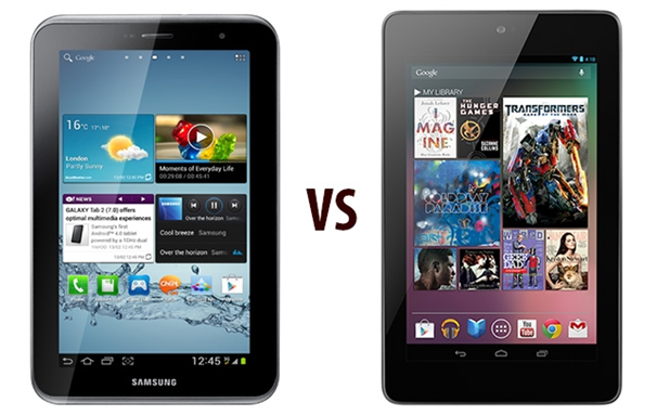 Galaxy Tab 2 Vs Nexus 7