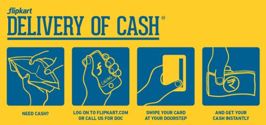 Flipkart Delivery of Cash