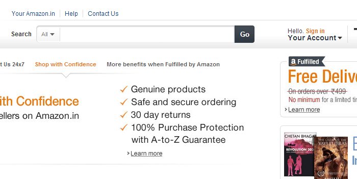 Amazon.in Starts Business in India While Amazon.com Looks to Expand into Online Grocery Business