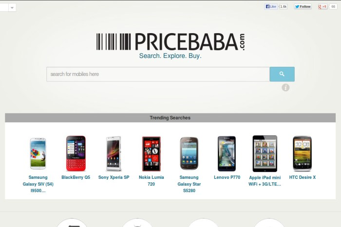 PriceBaba - Helping the Real World Shoppers Locate Mobile Prices in their Vicinity